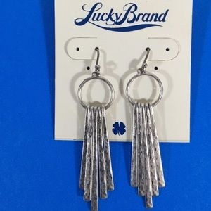 Lucky Brand Hammered Paddle Drop Earrings
